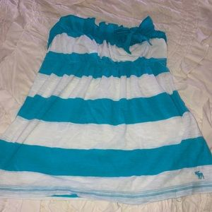 abercrombie and fitch striped tube strapless top